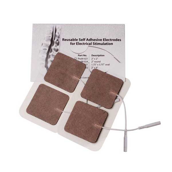 Ems Amp Tens Electrodes Tan Cloth 2 X 2 Chiropractic
